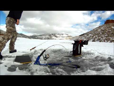 Ice fishing east canyon res, Utah
