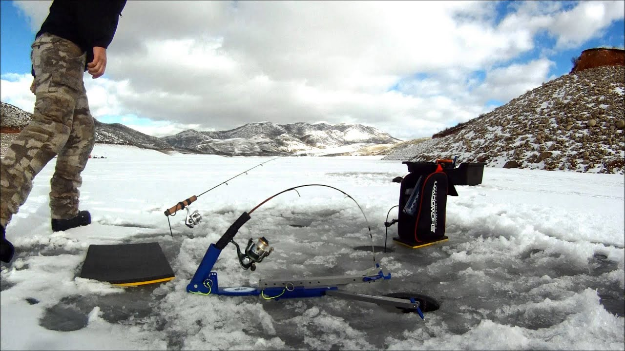Ice fishing east canyon res utah youtube for Ice fishing youtube