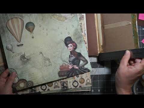 DIY  ASC DT  Scrapbook Mini Album, matting pages