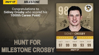 HUNT FOR 98 MILESTONE CROSBY | NHL 17 HUT Pack Opening - ULTIMATE PACKS!