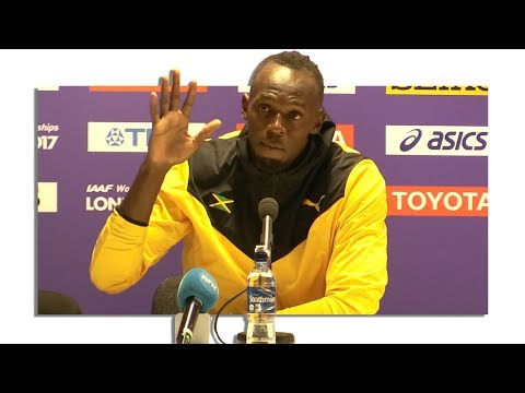 Usain Bolt's Full Retirement Press Conference After His Final Race - 2017 IAAF World Championships