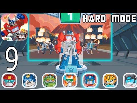Transformers Rescue Bots: Disaster Dash Hero Run /Hard Mode/  - IPhone Gameplay Walkthrough Part 9