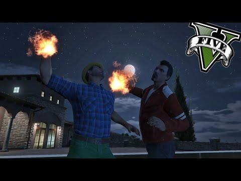 GTA V PC MODS - Los Epicos Duelos De Puños De Fuego !  - ElChurches GTA 5