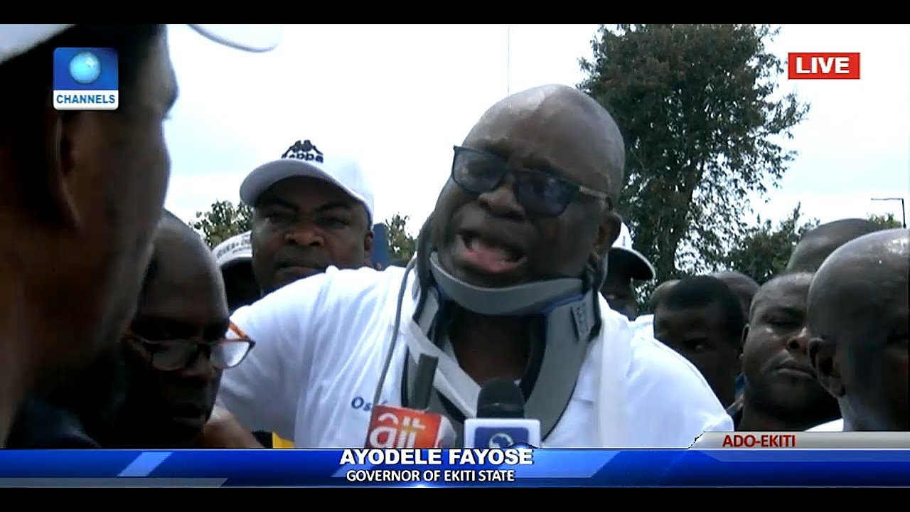 I Am In Severe Pain Fayose Breaks Down In Tears At Pdp Rally