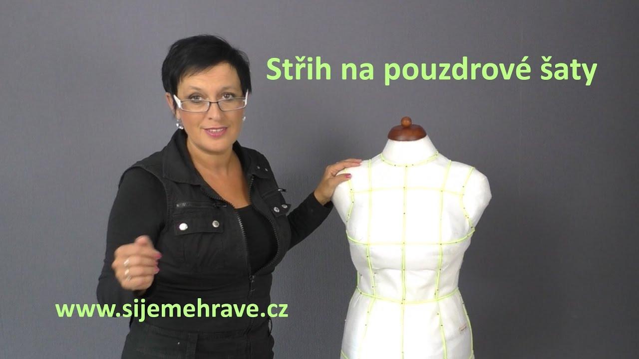Jak vytvořit střih na pouzdrové šaty - YouTube 5f37a6f24b6