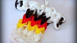 Loom Bands mit Rainbow Loom - Deutschland Trikot WM Fussball (deutsche Anleitung)