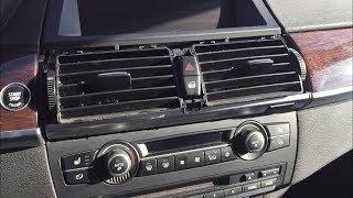 BMW X6 Небольшое восстановление пластика салона