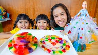 หนูยิ้มหนูแย้ม ทำเค้กจากปีโป้และกระโปรงเอลซ่า