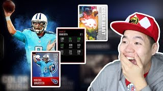 Color Blast Bundle Opening & 112 OVR Color Rush Mariota Gameplay - Best QB in the game thumbnail