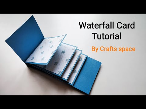 Waterfall Card Tutorial | How to make a waterfall card? | By Crafts Space
