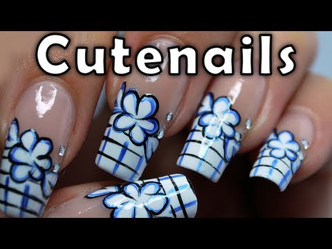 Comics Flowers Nail Art Design By Cute Nails Youtube