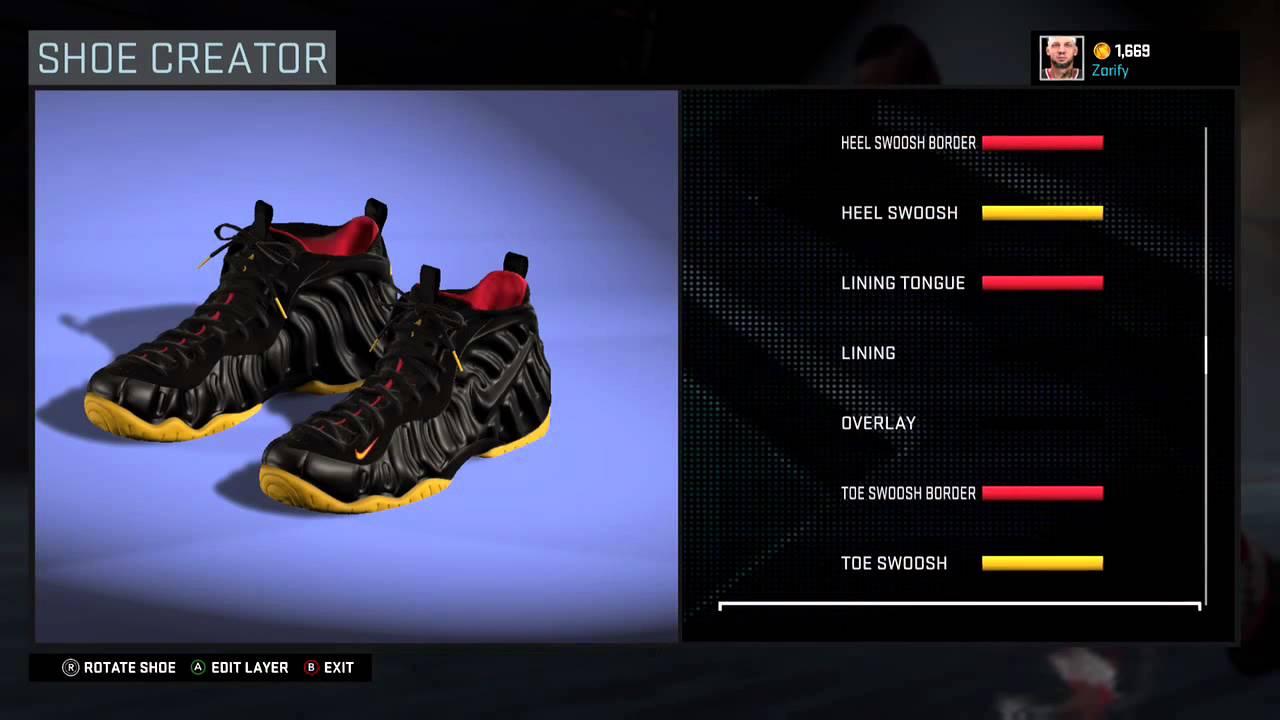 wholesale dealer a08b2 714a7 NBA 2K16 Shoe Creator - Nike Foamposite Pro Custom