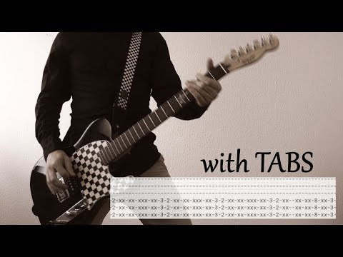 Linkin Park - Given Up Guitar Cover w/Tabs on screen