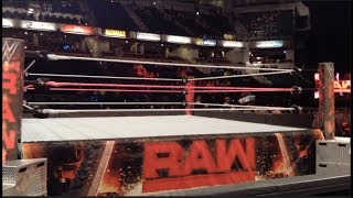 WWE Raw 3rd ROW Experience (Indianapolis Oct. 9, 2017) VLOG 1
