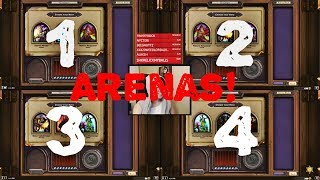Hearthstone Arena - Disguised Toast Playing 4 Arenas. Beat his record!