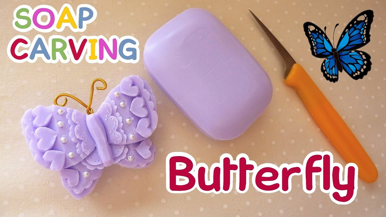 Soap carving butterfly easy how to carve real sound