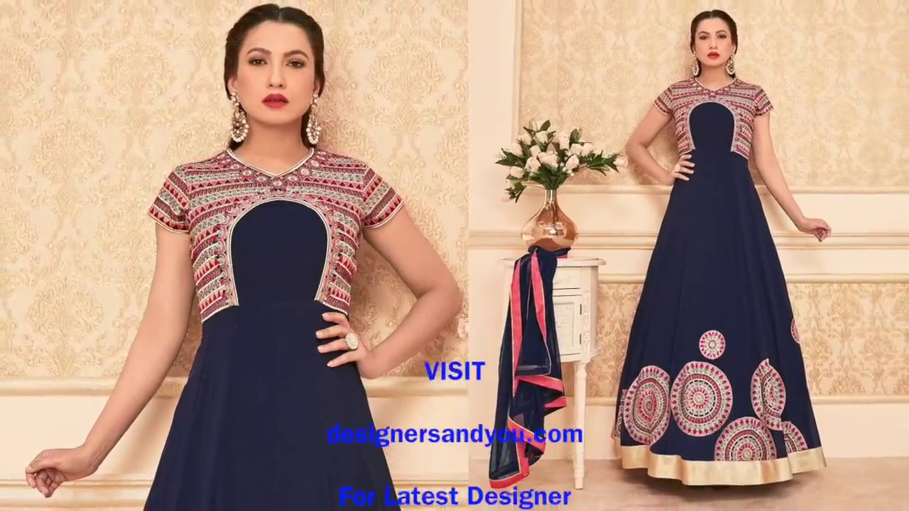 Designer Anarkali Suits: Party Wear Anarkali Gown Dresses Latest ...