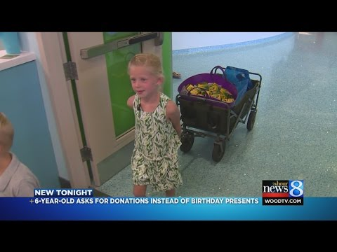 For 6th birthday, girl gives art supplies to sick kids