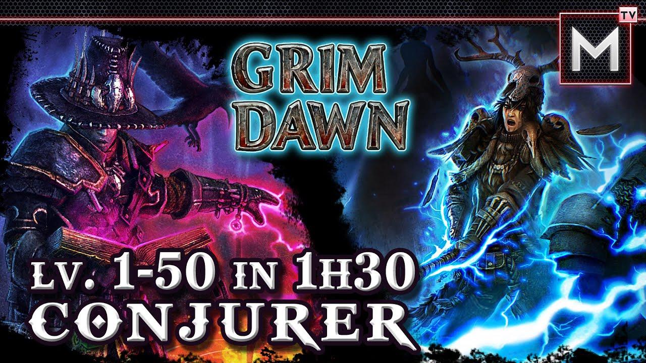 Conjurer Leveling 1 to 50 in 1Hr30Min - Grim Dawn (Shaman Occultist)