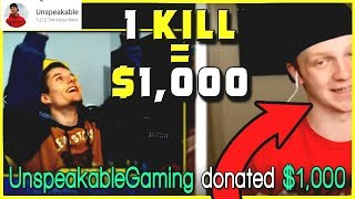 UnspeakableGaming Offered Me $1,000 To Get 1 Kill In Fortnite Battle Royale - Garke Reacts