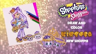 DIY New Tea Party Themed Shoppie Doll Kirstea Speed Drawing and Color