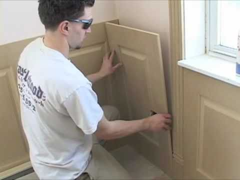 Installing Wainscoting panels - YouTube on do it yourself wainscoting, how do you say wainscoting, how do you install fascia, how do you install crown molding, how install tongue and groove, how do you install stairs, how do you install stucco, how do you install siding, how tall should wainscoting be, how install beadboard wainscoting, how do you install wallpaper, how do you install shutters, how do you install windows, how do you install cabinets,