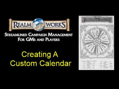 Faerun Calendar.Realm Works Create A Custom Calendar