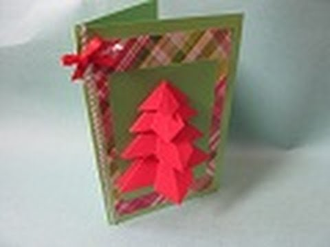 Tarjeta navide a arbolito 3d f cil y diferente youtube - Como hacer tarjetas de navidad faciles ...
