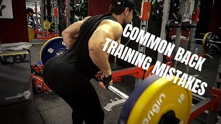 Common Back Training Mistakes