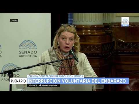 EN CONTRA:  CHINDA CONCEPCIÓN BRANDOLINO  MÉDICA CLINICA   DIRECTORA DE LA ONG PRO FAMILIA Y ACCIÓ