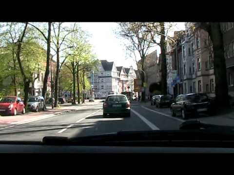 Drivng in Duisburg, Germany (north to south)