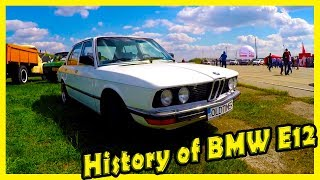 """Best Classic German Cars from the 70s and 80s. History of BMW E12 518. Cars Show """"OldCarLand"""""""