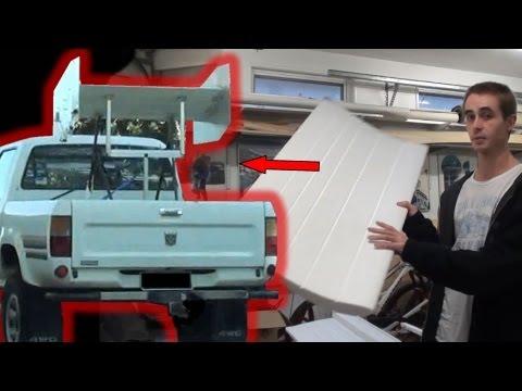 How to Make a Simple Fibreglass Car Wing/Spoiler