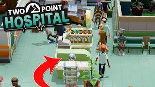HUGE CROWD OF SICK PEOPLE AND CLOWNS - Two Point Hospital Gameplay
