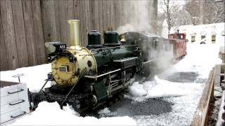 Steam in the Snow on the Shawsheen Valley Railway