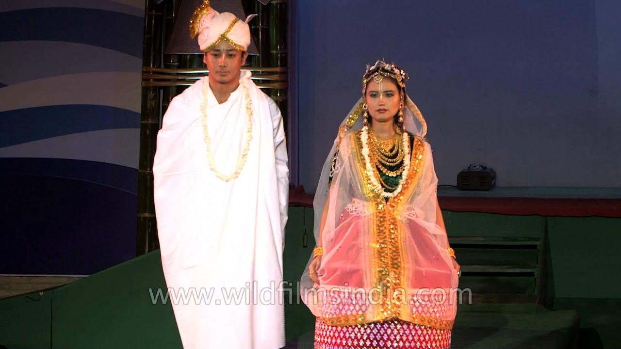 Halley Laithangbam In Manipuri Hindu Marriage Costume