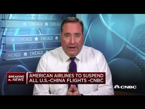 American Airlines To Suspend All U.S.-China Flights