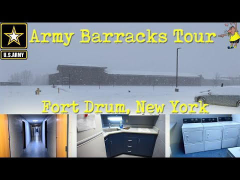 US Army Barracks Tour - Fort Drum NY 2019
