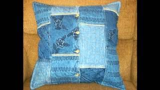 Модные подушки из джинсов своими руками(Дом будет выглядеть еще лучше с такими декоративными подушками из джинсов. Наша подборка таких модных поду..., 2014-08-26T09:55:24.000Z)
