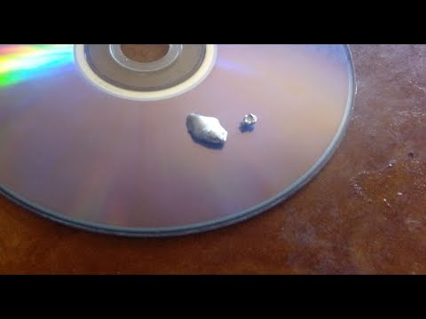 Silver recovery & refining from CD and DvD part 1