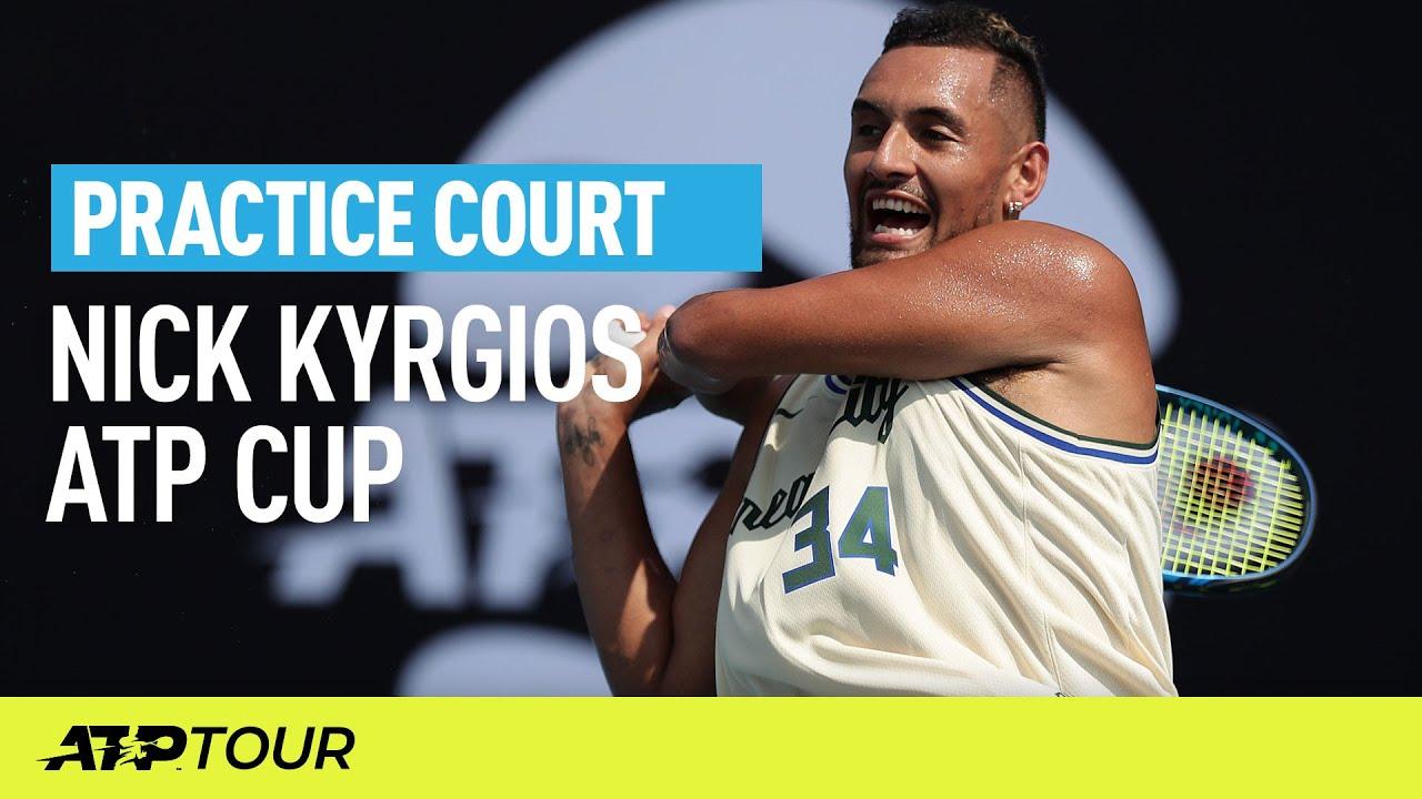 Nick Kyrgios Practice | ATP CUP
