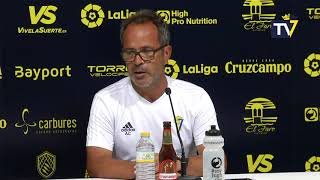 Rueda de prensa de Álvaro Cervera en previa Tenerife-Cádiz de Copa del Rey (10-09-18)