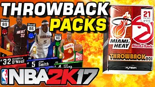 NBA 2K17 THROWBACK PACKS ARE HERE! RUBY MYTEAM CARDS!