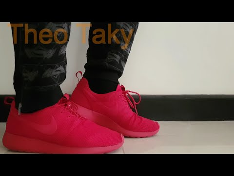 9735e625bf82 Nike Roshe One Triple Red( On Feet) Review - YouTube
