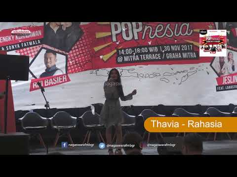 Thavia - Rahasia Live @ Launching Album POPnesia 30 November 2017