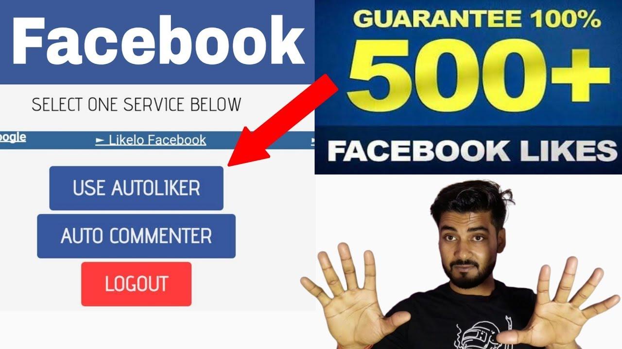 500 Likes Auto Liker Fb