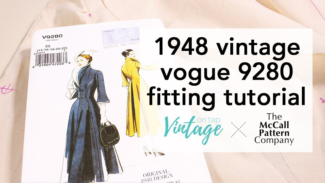 4fd2f97e873c9 How to Fit the 1948 Vintage Vogue 9280!   Vintage on Tap