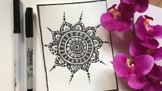 How to draw Mandala - Free hand
