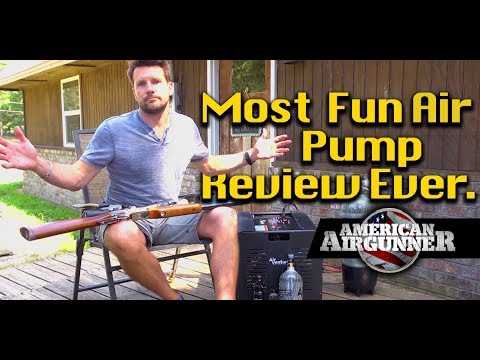 Air Gun Compressor Review + Umarex Gauntlet Air Rifle Jenga