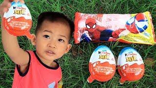 Anak Lucu Beli Kinder Joy & Es Krim Spiderman Berhadiah Mainan Anak Bagus